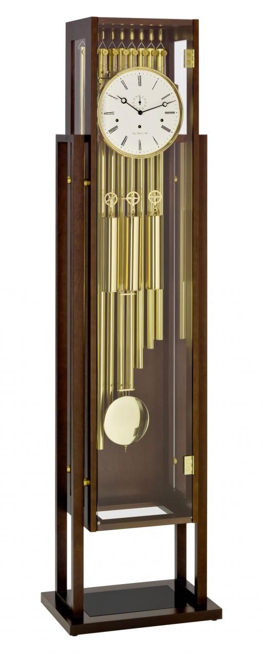 Grande pendule poser haut de gamme sonnerie sur tubes en for Grande pendule en bois
