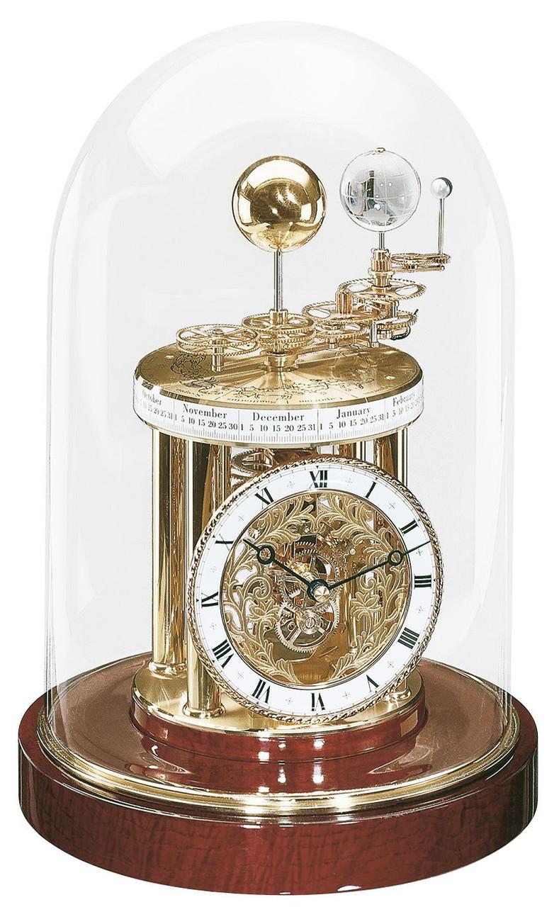Pendule de table astrolabium en bois d 39 acajou for Grande pendule en bois