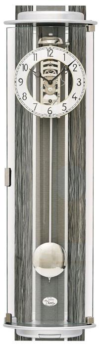 Horloge murale m canique moderne en bois gris verre et aluminium for Horloge murale bois moderne