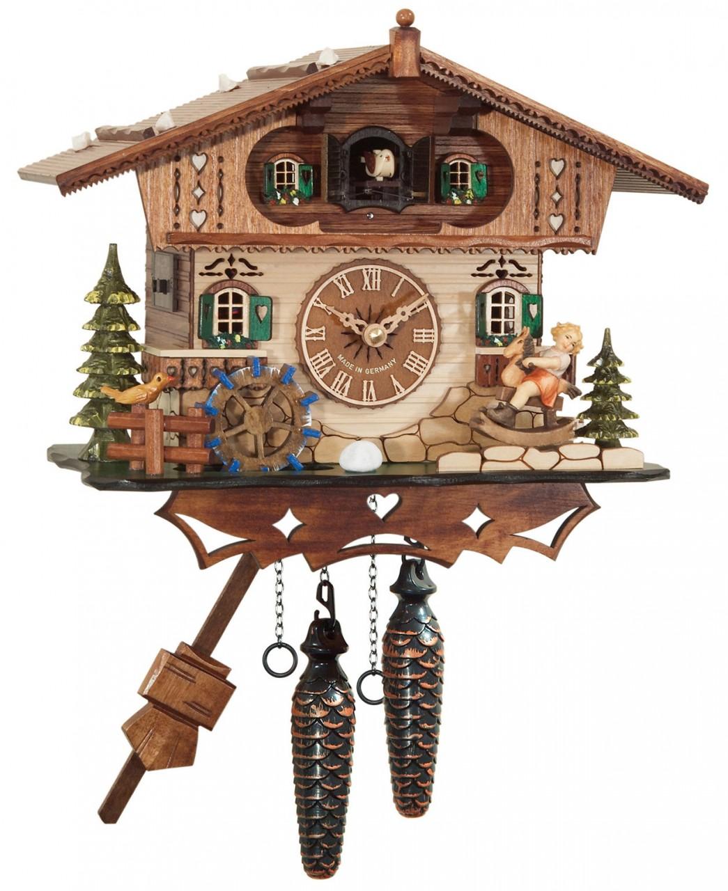 coucou quartz musical chalet enfant horloge coucou 1001 pendules. Black Bedroom Furniture Sets. Home Design Ideas