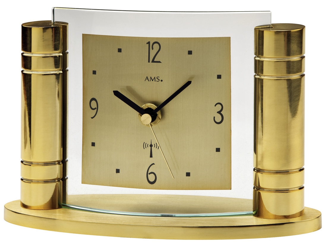 Pendule à poser moderne full dorée   1001 pendules