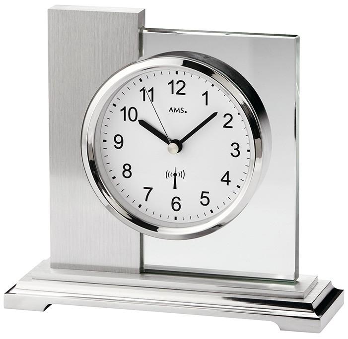 pendule poser radio pilot e aluminium bross et verre pendule poser 1001 pendules. Black Bedroom Furniture Sets. Home Design Ideas