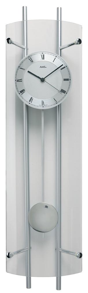 Horloge murale balancier argent e en verre horloge murale 1001 pendules for Horloge murale verre