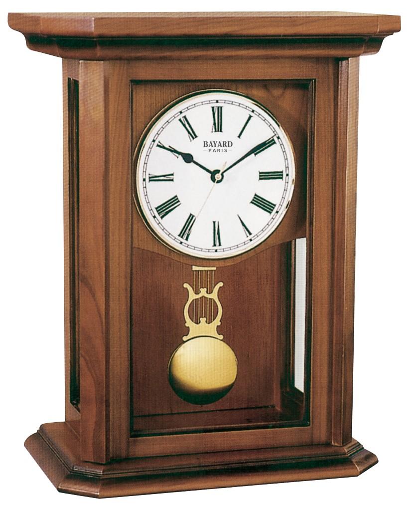 pendule poser en merisier massif chapeau droit pendule. Black Bedroom Furniture Sets. Home Design Ideas