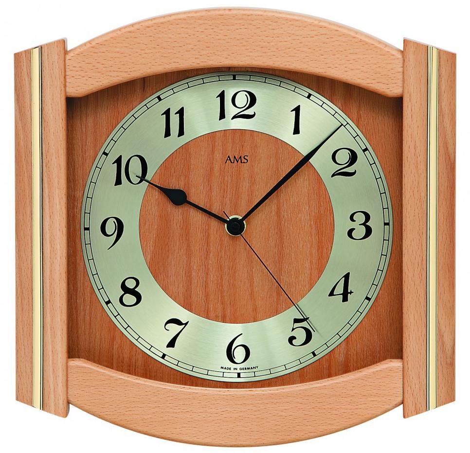 horloge murale entourage bois laiton 3 coloris horloge murale 1001 pendules. Black Bedroom Furniture Sets. Home Design Ideas