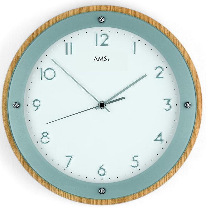 Horloge murale radio pilot e en verre et bois for Horloge murale verre