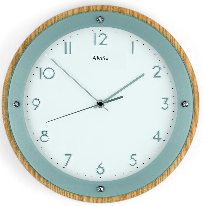 Horloge murale radio pilot e en verre et bois horloge for Horloge murale verre