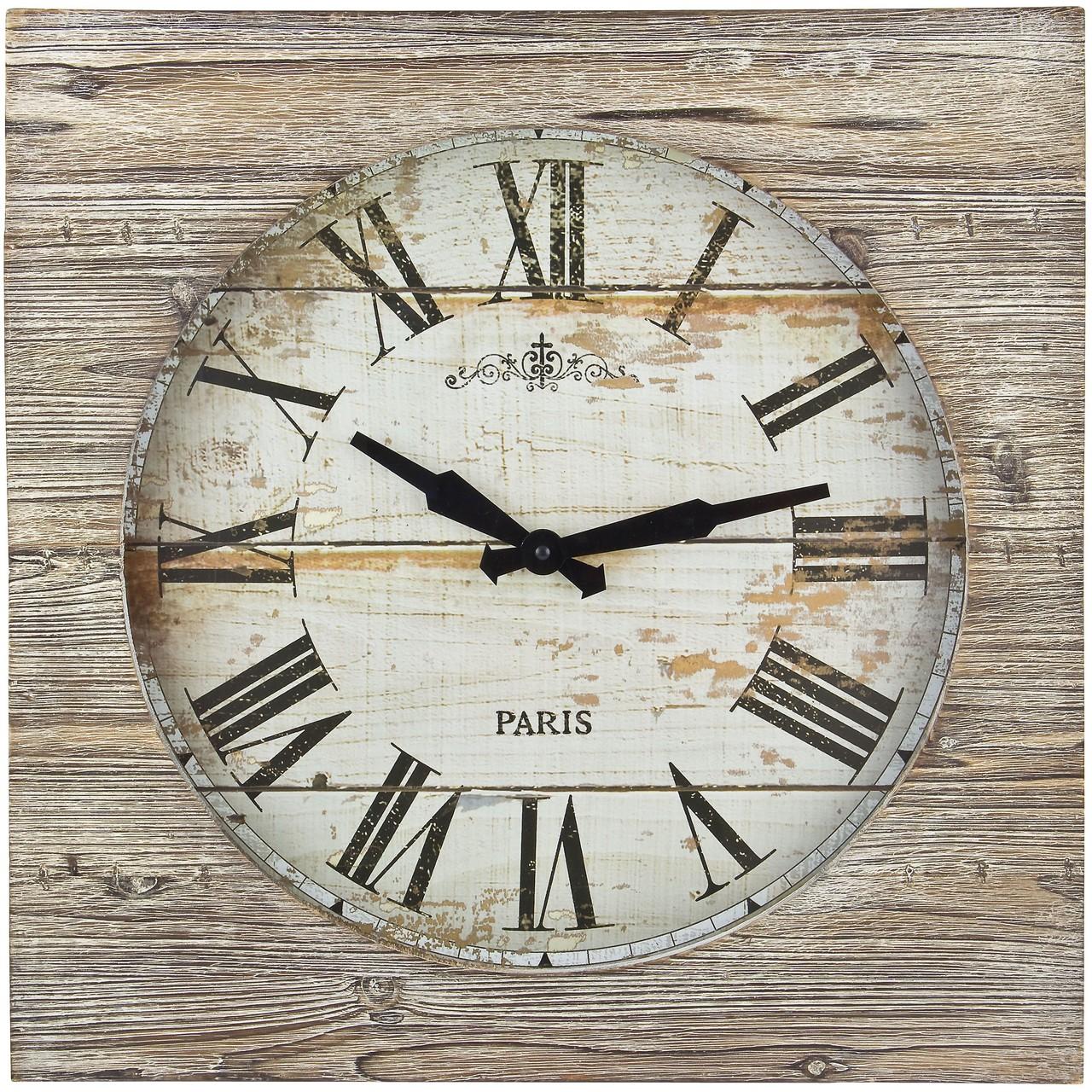 Horloge Murale Vintage En Bois Et Metal O 60 Cm