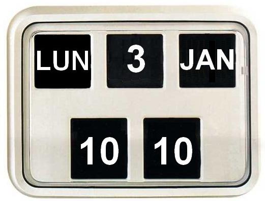 pendule murale à calendrier perpétuel