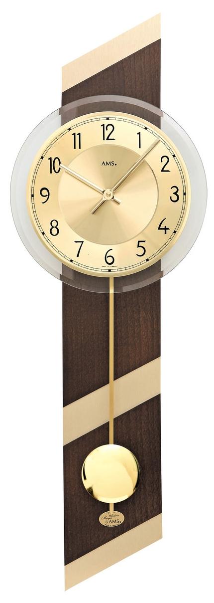 horloge murale balancier moderne en bois blanc brillant et aluminium horloge murale 1001. Black Bedroom Furniture Sets. Home Design Ideas