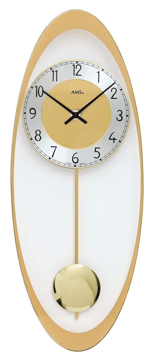 Horloge murale balancier quartz en verre for Horloge murale verre