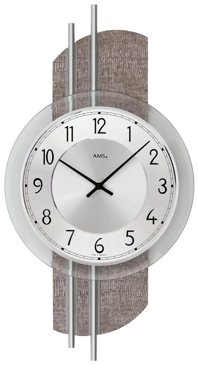 Horloge murale design en verre et simili cuir horloge murale 1001 pendules for Horloge murale verre