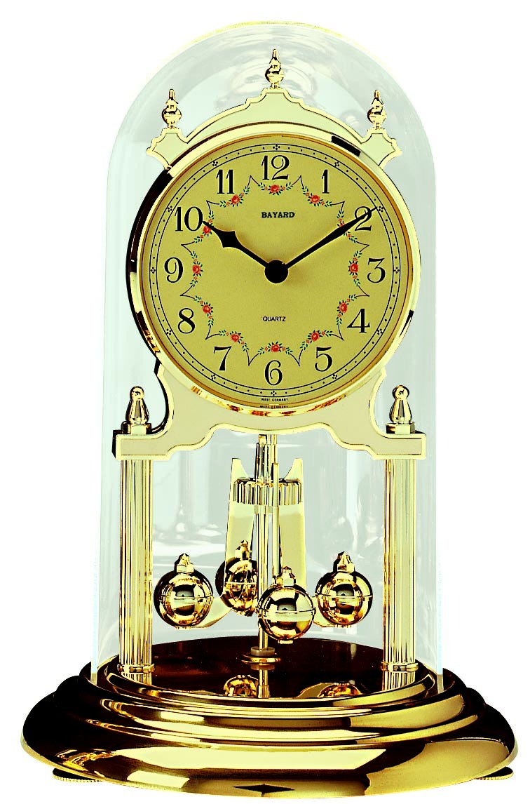 pendule 400 jours quartz dor e grand mod le bayard pendule poser 1001 pendules. Black Bedroom Furniture Sets. Home Design Ideas