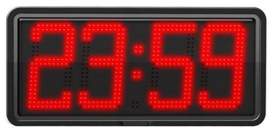 horloge murale digitale affichage leds rouges heures et. Black Bedroom Furniture Sets. Home Design Ideas
