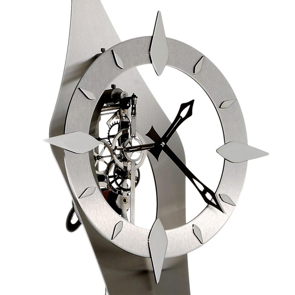 horloge comtoise moderne inox hortence. Black Bedroom Furniture Sets. Home Design Ideas