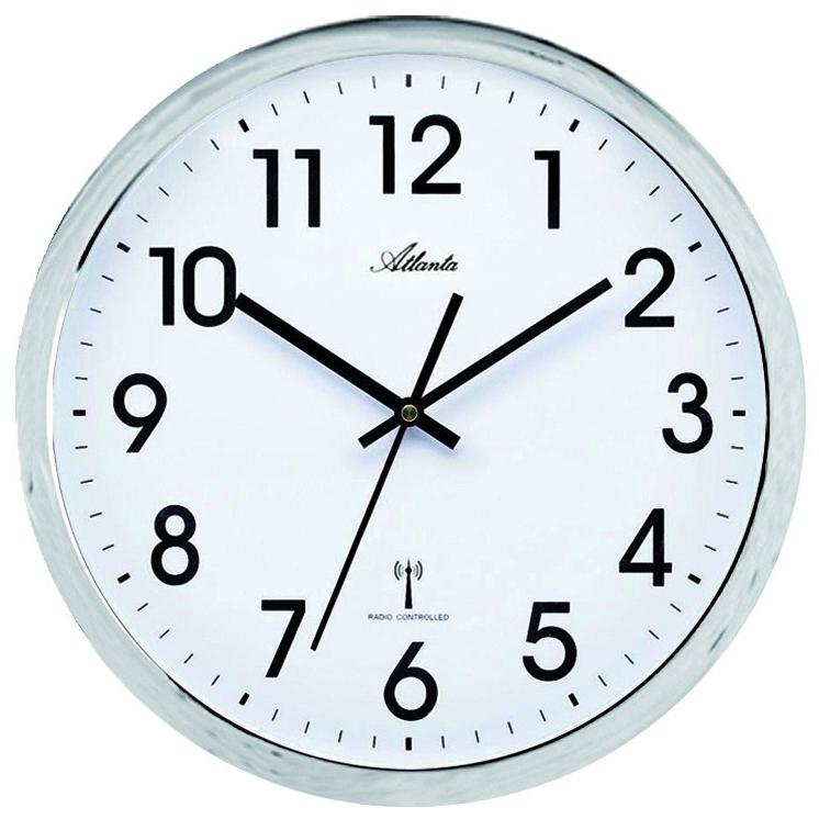 horloge murale radio pilot e entourage chrom horloge murale 1001 pendules. Black Bedroom Furniture Sets. Home Design Ideas