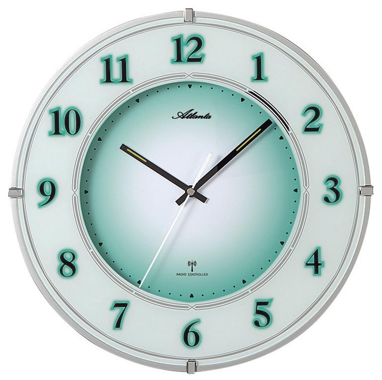 Horloge murale lumineuse radio pilot e et silencieuse en verre for Horloge lumineuse
