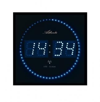 Horloge murale led radio pilot e 1001 pendules - Horloge digitale murale led ...