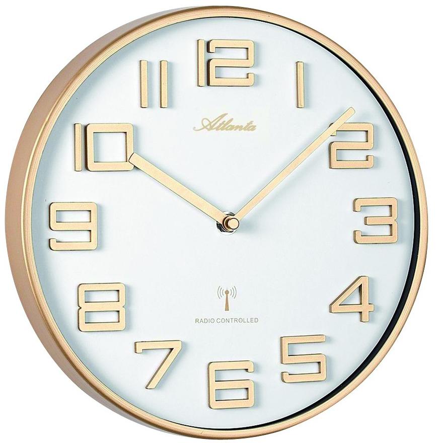 Horloge murale radio pilot e ronde chiffres en relief for Jolie horloge murale