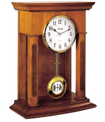 pendule poser de style balancier en merisier 1001. Black Bedroom Furniture Sets. Home Design Ideas