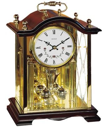 pendule 400 jours sonnerie westminster cage en bois et verre pendule poser 1001 pendules. Black Bedroom Furniture Sets. Home Design Ideas