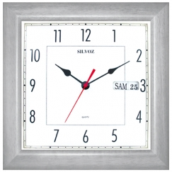 Horloge murale calendrier perp tuel en fran ais - Horloge murale avec calendrier ...