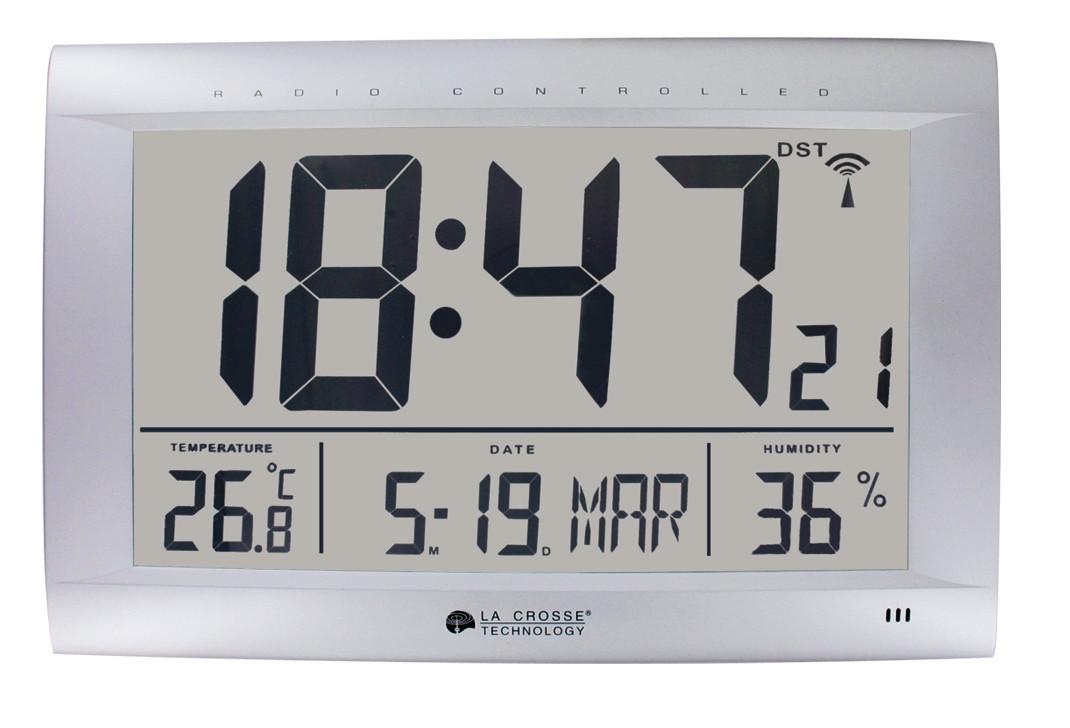 horloge murale grise radio pilot e fuseaux horaires. Black Bedroom Furniture Sets. Home Design Ideas