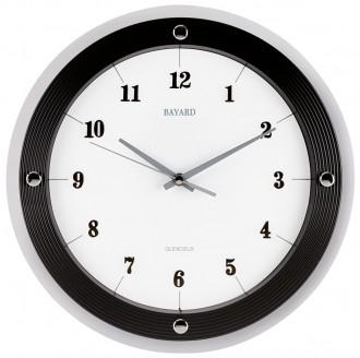 horloge murale moderne ronde bayard 3 coloris disponibles 1001 pendules. Black Bedroom Furniture Sets. Home Design Ideas