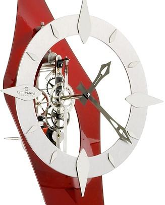 comtoise contemporaine rouge hortence horloge comtoise. Black Bedroom Furniture Sets. Home Design Ideas
